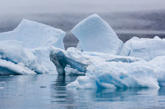 Blue Icebergs in Greenland Stock Image