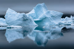 Blue Icebergs in Greenland Royalty Free Stock Photos