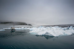 Blue Icebergs in Greenland Stock Photo