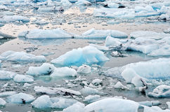 Blue Icebergs Royalty Free Stock Photography