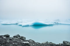 Blue icebergs in Jokulsarlon glacial lagoon, Iceland Royalty Free Stock Photos