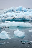 Blue Icebergs Stock Photography