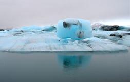 Blue icebergs, Jokulsarlon lagoon, Iceland. Royalty Free Stock Image