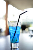 Blue iced lemon soda Stock Photo