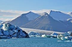 Blue icelandic gracier Stock Photography