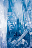 Blue icicles. Bottom-up view of blue icicles. Freezing atmosphere royalty free stock photos