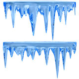 Blue icicles royalty free illustration