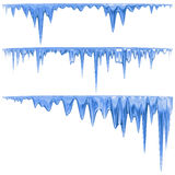 Blue icicles stock illustration