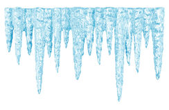 Blue Icicles Royalty Free Stock Images