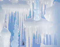 Blue Icicles in winter background Royalty Free Stock Images