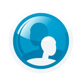 Blue Icon Stock Photography