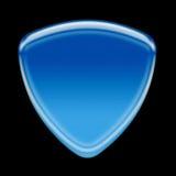Blue icon. Blank blue icon on black background vector illustration