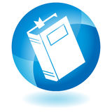 Blue Icon - Book. A 3D blue icon button - book Stock Images