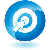 Blue Icon - Bullseye Royalty Free Stock Photo