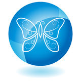 Blue Icon - Butterfly Stock Images