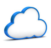 Blue icon with cloud Royalty Free Stock Photos