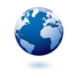 Blue icon earth gel Royalty Free Stock Photo