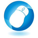 Blue Icon - Mouse Royalty Free Stock Photography