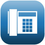 Blue icon of phone Royalty Free Stock Photos