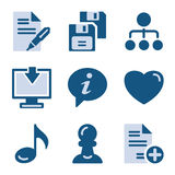 Blue icon set 10 Stock Photography