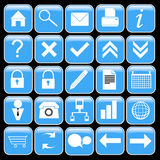 Blue icon set Stock Photography