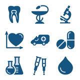 Blue icon set 12 Royalty Free Stock Photography