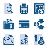 Blue icon set 14 Stock Images