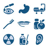 Blue icon set 15. Vector icons set for internet, website, guides Royalty Free Stock Images