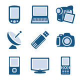 Blue icon set 16 Royalty Free Stock Image