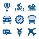 Blue icon set 20 Stock Photos