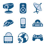 Blue icon set 21 Royalty Free Stock Photography