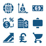 Blue icon set 23 Royalty Free Stock Photos