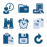 Blue icon set 3 Stock Photography