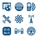 Blue icon set 30. Vector icons set for internet, website, guides Royalty Free Stock Photo