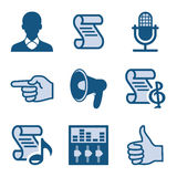 Blue icon set 31 Stock Images