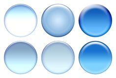 Blue icon set Stock Image