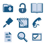 Blue icon set 8 Royalty Free Stock Images