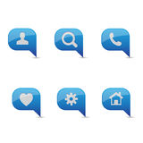 Blue icon set vector Stock Image