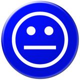 Blue icon with symbol of face Royalty Free Stock Photos