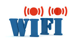 Blue icon wifi Stock Photography