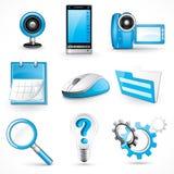 Blue Icons Stock Photo