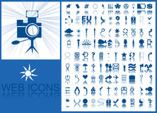 Blue icons Royalty Free Stock Image