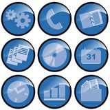 Blue Icons. For organization use vector illustration
