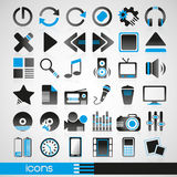 Blue icons Royalty Free Stock Photos