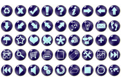 Blue Icons stock illustration
