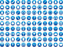 Blue icons Royalty Free Stock Photography