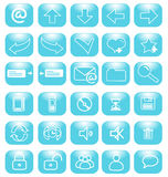 Blue icons internet. Set of blue icons internet Royalty Free Stock Images