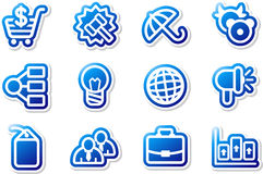 Blue icons. Set 5. Stock Image