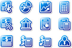 Blue icons. Set 7. Royalty Free Stock Photos
