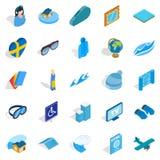 Blue icons set, isometric style. Blue icons set. Isometric set of 25 blue vector icons for web isolated on white background Stock Images
